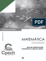 C3M Solucionario Guía Combinatoria y Regla de Laplace 2015