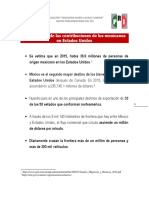 08-11-16 Importancia de las contribuciones de los mexicanos en Estados Unidos