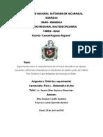 Experimentos sobre el comportamiento de la Presión atmosférica en líquidos expuestos a diferentes temperaturas en estudiantes de séptimo grado del instituto Prof. Guillermo Cano Balladares del municipio de Estelí.