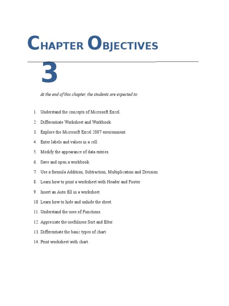 Workbooks microsoft excel 2007 workbook : chap 3 MS EXCEL | Microsoft Excel | Spreadsheet