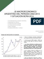ANALISIS MACROECONOMICO ARGENTINO DEL PERIODO 2002-2013Y SITUACIÓN BCRA 2014
