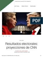 Elecciones USA 2016 Proyecciones de CNN