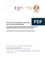 Poverty and Children's Personal Relationships