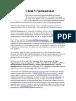 Gestión Del Clima Organizacional