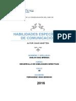 Habilidades Específicas de Comunicación