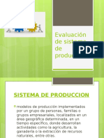 Evaluación de Sistema de Producción Diapo