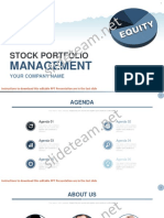 Equity Shares Stock Portfolio Management Presentation PowerPoint Template