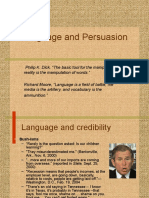 Language and Persuasion