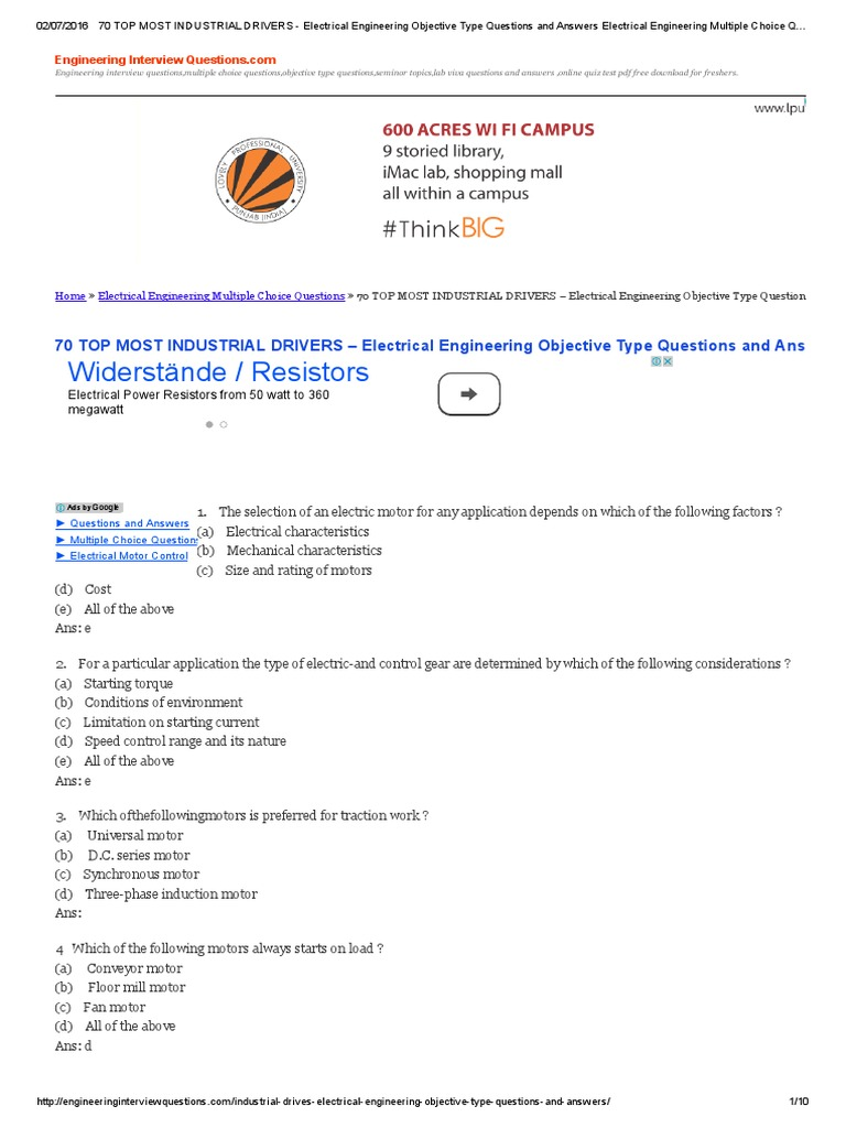 Basic Question Of Electrical Engineering Pdf