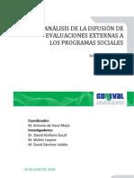 Analisis de la Difusión de Evaluaciones Externas a Programas Sociales