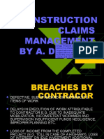 Construction Claims Management Ri