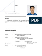 sample resume for ojt student  information technology resume for ojt  im looking for ojt company  im electronics student