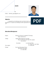 RESUME FOR OJT (im Looking For OJT Company, Im Electronics Student)  Ojt Resume