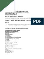 Digital Signal Processing Q&A