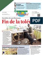 Cameroon Tribune Du 01 Septembre 2016