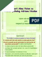 Adriana Nicolae trainer psiholog - Seminarii Alma Vision