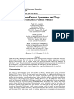 Loureiro - Links Between Physical Appearance and Wage Discrimination