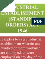 Industrial Establishment Standing Orders Act 1946