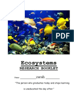 ecosystems research booklet