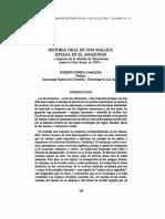 Pineda 1988 Historia Oral de Una Maloca Sitiada en El Amazonas