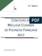 Règlement Concours Meilleur Cuisinier 2017