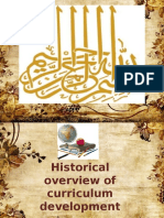 Historical Overview of Curriculum