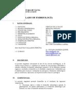 Silabo Embrio Medicina 2016-II