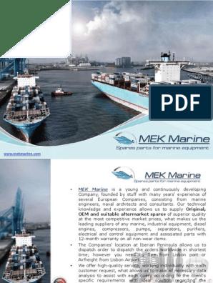 MEK Marine MWM Engine Spare Parts | Piston | Pump