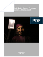 Report on Solar Program supported by AID Delhi in Munsiari, Uttarakhand
