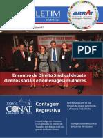 encontro  direito sindical debate direitos sociais e homenageia mulheres