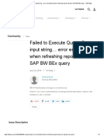 Failed to Execute Query_ for Input String..