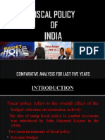 Fiscal Policy of India for Last 5 Yr and Analysis
