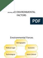 Macro Environmental Factors