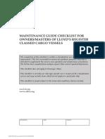 Lloyds Checklist Psc Maint Guide