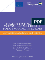 HTA Assesment and Helath Policy Making in Europe