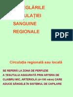 4. Dereglările Circulaţiei Sanguine Regionale