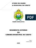Regimento Camara Vereadores do Crato