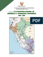 Bases de Estrategia Nac Integracion Fronterizos 2007 - 2021
