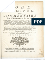 Code Criminel Ou Commentaire Sur Louis XIV - 1767