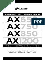 Corsair AX1200, AX850 - Manual