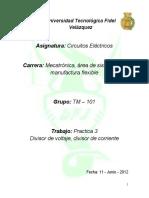 Practica 3 -divisor de voltaje y corriente