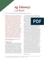why it starts at birth