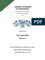 Awal Internet IndonesiaSIGIT