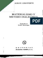 MATERIALISMO Y METODO DIALECTICO MAURICE CONFORTH.pdf