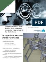 Oferta académica en el ámbito de la ingeniería mecánica