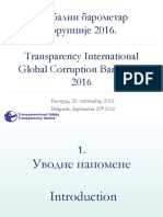 ==Globalni barometar korupcije 2016 Srbija 20 09 2016