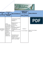 Cronograma Sistemas de Gestión de Calidad