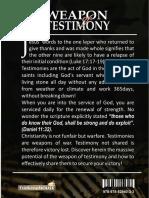 Weapon of Testimony