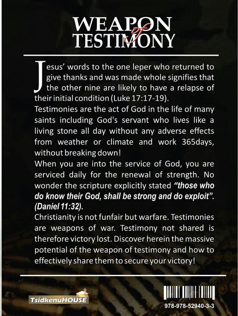 Weapon of Testimony | God | Prayer