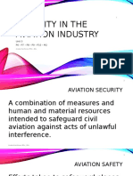 Unit 3 Security in the Aviation Industry Week 9 Lesson 2